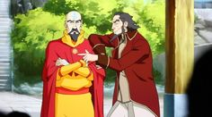 Tenzin and Bumi. This looks a lot like me and my brother.