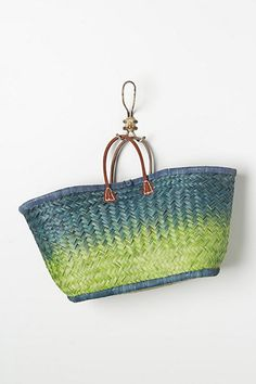 this ombre weaved beach tote from anthropologie is really cute