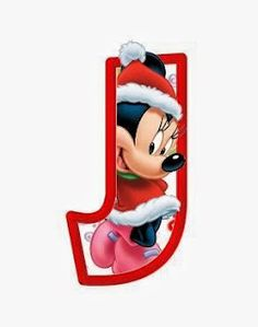 J Christmas minnie fill. Disney Letters, Disney Alphabet, Christmas Alphabet, Mickey Christmas, Christmas Stocking, Daisy Duck, Fuentes Disney, Mickey Mouse Clubhouse Birthday, Cute Clipart