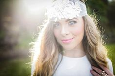 Anna  Tulle Lace Pearl Headpiece by WillowMoone on Etsy, $330.00