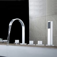 Search results for: 'faucets dree-contemporary-roman-tub-filler-with-handshower' Roman Tub Faucets, Bathroom Faucets, Bathrooms, Cheap Bathtubs, Bath Mixer Taps, Steam Showers Bathroom, Bath Shower, Bath Tub, Waterfall Faucet