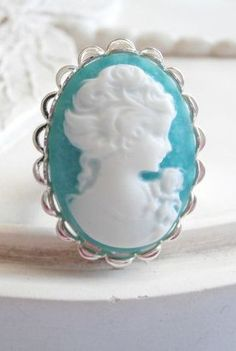 Cameo Statement Ring by linkeldesigns