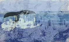a whale of a tail - insp Japanese Quilts, Whale Art, Pastel Palette, Collage Illustration, Art Graphique, Japan Art, Amazing Art, Illustrators, Artist