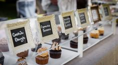 Cupcake display with chalkboards