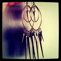 Spike to the Heart Earrings by DistractedRenegade on Etsy, $32.78