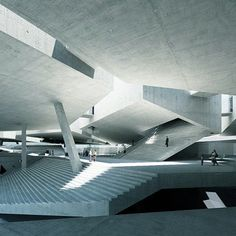 a proposal for the future Museum of Modern Art in Warsaw Concrete Architecture, Space Architecture, Contemporary Architecture, Amazing Architecture, Museum Architecture, Minimalist Architecture, The Farm, Brutalist, Interior And Exterior