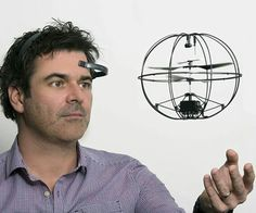 Puzzlebox Orbit - Mind controlled drone (http://store.neurosky.com/products/orbit)