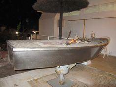 Torremolinos (Costa Del Sol) Spain Grilling boats for fresh fish