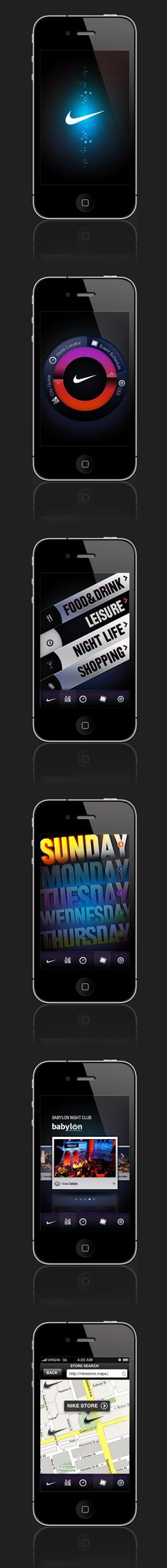 NIKE iPHONE UI by Ersin ANTEP
