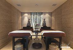 Personal in house spa room. Interior designers Antoni Associates