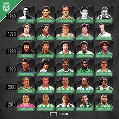 Los mejores jugadores de la historia de Atlético Nacional