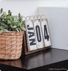 DIY Home Decor ~ World Market Inspired Perpetual Calendar DIY