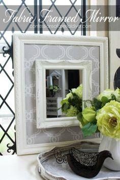 Fabric framed mirror
