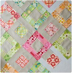 square in solid square to go with Potluck squares.