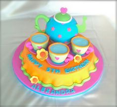 Tea Party birthday cake