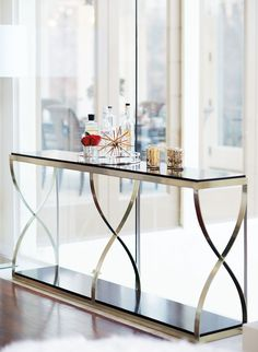 Shop Reggie Console Table from Hooker Furniture at Horchow, where you'll find new lower shipping on hundreds of home furnishings and gifts. Steel Furniture, Fine Furniture, Rustic Furniture, Luxury Furniture, Furniture Design, Modern Furniture, Antique Furniture, Furniture Layout, Outdoor Furniture