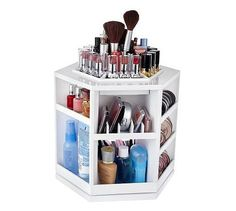 so clean and organized <3    http://www.wanelo.com/women/Tabletop+Spinning+Cosmetic+Organizer-335765.html
