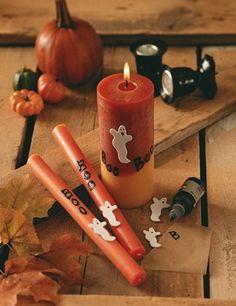 #DIY #Halloween candles