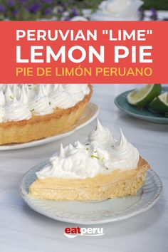 A deliciously tangy and sweet dessert that looks incredible and tastes divine. If you're looking for a new favorite recipe, one that tastes different but also has familiarity, try this popular dessert. #PeruvianFood #PeruvianRecipes #LemonMeringuePie #LemonPieRecipe Peruvian Desserts, Peruvian Recipes, Sweet Desserts, Easy Desserts, Lemon Pie Recipe, Lemon Meringue Pie, Desert Recipes, Pie Recipes, Vanilla Cake