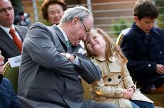sweet picture of Prince Henrik of Denmark with his granddaughter, Princess Isabella