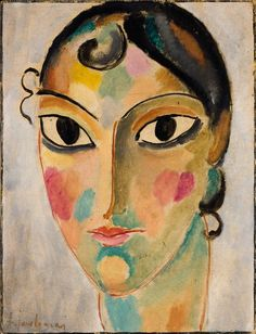 "Alexej von Jawlensky (Russian-German, 1864 - 1941)""Mystical Head"", Ascona Nr.10 (Asconeser Kopf Nr.10), 1918"