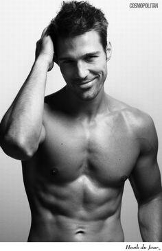"Goran Jurenec - Hunk du Jour - German-Croatian model - currently featured in the German male pinup calendar called ""Men"""