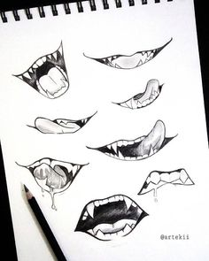 Super Ideas drawing anime mouths - My CMS Anime Drawings Sketches, Pencil Art Drawings, Illustration Sketches, Easy Drawings, Disney Drawings, Anime Sketch, Artwork Drawings, Anime Artwork, Drawings Of Mouths