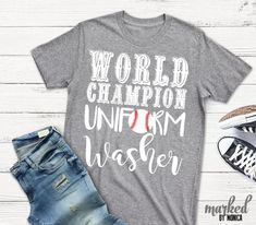 World Champion Uniform Washer, Baseball Mom,Heat Transfer,Svg,Dxf,Eps,File,Electronic Cutting Machine,Silhouette,Cricut,Instant Download by MarkedbyMonica on Etsy