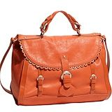 See by Chloe Poya Scalloped Leather Satchel Coral