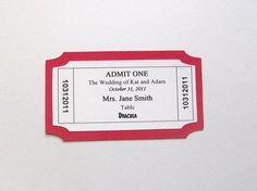 Movie ticket escort card