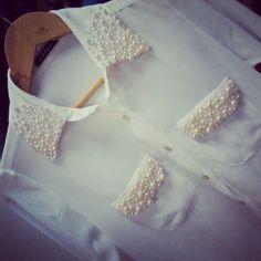Camisa Branca | Bordado em Pérolas #ModaParaDepoisDeEmagrecer