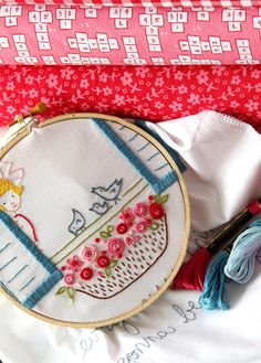 Embroidery Pattern PDF 3 Little Birds by sarahjanestudios on Etsy, $6.00
