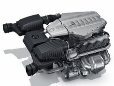 In the SLS AMG, the 6.3 Liter V8 Front-Mid engine sets new standards, becoming the world's most powerful standard-fit eight-cylinder naturally-aspirated engine.