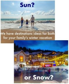 3 fun, offbeat family destinations for Christmas break or winter break. Includes sunny, snowy and city travel ideas that are great with kids and teens.