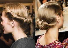 Simple Rolled Hairline & Chignon