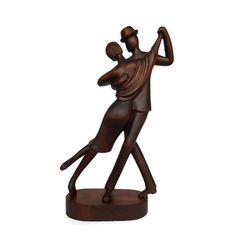 Handcarved wood sculpture Tango by Woodinthemood on Etsy