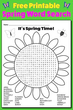 Trendy easter games for kids classroom word search Ideas Easter Games For Kids, Games For Kids Classroom, Kindergarten Games, Science Word Search, Kids Word Search, Spring Word Search, Spring Words, Spring Party, Spring Theme