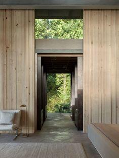Olson Kundig Architects, Kevin Scott · Jim Olson Cabin Panneau, Cabane,  Bois,