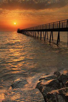 Sunset at Kuwait Beach