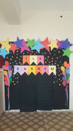 School Decorations, School Themes, Birthday Decorations, Backdrop Decorations, Backdrops, Preschool Bulletin, Preschool Activities, Bulletin Board Design, Poster