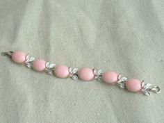Vintage Pale Pink Lucite Cabochons Bracelethttp://www.ebay.com/itm/301184363237?ssPageName=STRK:MESELX:IT&_trksid=p3984.m1555.l2649