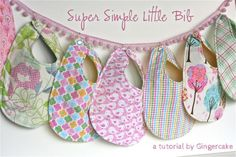 Over 80 adorable bib ideas include patterns for your own baby or make several as gifts. Make meals fun by sewing special baby bibs for the holidays. Sewing For Kids, Baby Sewing, Free Sewing, Sewing Tutorials, Sewing Projects, Sewing Ideas, Diy Projects, Baby Bib Tutorial, Baby Bibs Patterns