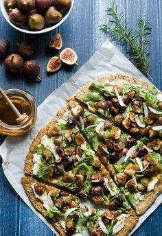 Gluten Free Honey Fig Ricotta Flatbread Recipe | Gluten Free Recipes | Simply Gluten Free