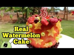 Fruit cake on Pinterest  Fruit Cakes, Watermelon Cakes and Watermelon ...