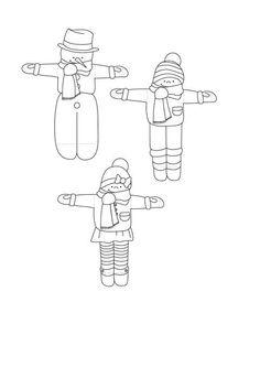 Imprimible para realizar la manualidad con los palillos de polo como esquís y los palillos de dientes como bastones
