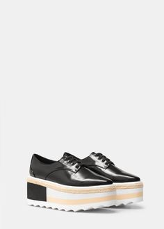 Zapato plataforma contraste