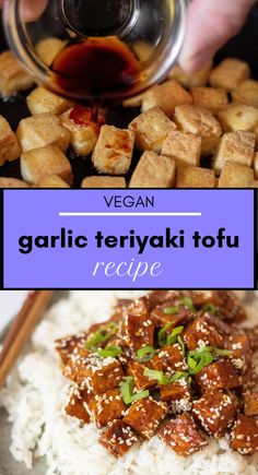 This vegan Garlic Teriyaki Tofu is perfect for beginners! You will find step-by-step instructions in the article for this easy Japanese weeknight dinner recipe! | The Green Loot #vegan #veganrecipes Vegan Recipes Beginner, Recipes For Beginners, Healthy Recipes, Teriyaki Tofu, Teriyaki Glaze, Firm Tofu Recipes, My Favorite Food, Favorite Recipes, Extra Firm Tofu