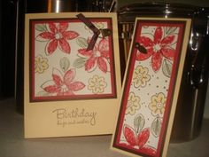 Bud Basics Card & Matching Bookmark by Chipper - Cards and Paper Crafts at Splitcoaststampers