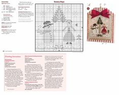 Cross Stitch XS Snowy Days Ornament, Just Cross Stitch Christmas Ornaments 2014, Vol. 32, No. 6 - Little House Needleworks