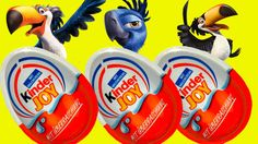 Kinder Joy Ferrero Eggs Rio 2 - Kinder Merendero con Sorpresa Surprise E...